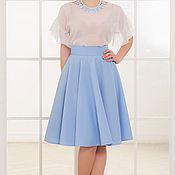 Одежда ручной работы. Ярмарка Мастеров - ручная работа Голубая юбка-солнце скидка 15%. Handmade.
