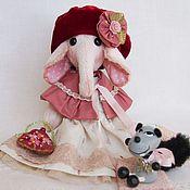 """Куклы и игрушки ручной работы. Ярмарка Мастеров - ручная работа Слоник """"Красная Шапочка"""". Handmade."""