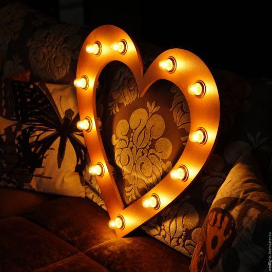 """Освещение ручной работы. Ярмарка Мастеров - ручная работа. Купить Светильник """"Сердце медное 60 см"""". Handmade. Рыжий"""