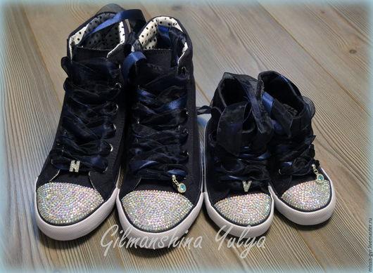 Обувь ручной работы. Ярмарка Мастеров - ручная работа. Купить Отражение. Handmade. Тёмно-синий, обувь для улицы, для мамы, органза