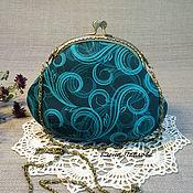 Сумки и аксессуары handmade. Livemaster - original item purse clasp, small, with chain shoulder. Handmade.