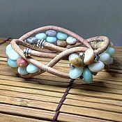 Украшения handmade. Livemaster - original item Matte amazonite bracelet. Stone beaded bracelet. Sea Blue bracelet. Handmade.