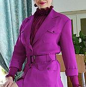 Одежда ручной работы. Ярмарка Мастеров - ручная работа Шелковый костюм цвета яркой фуксии. Handmade.