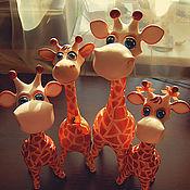 Куклы и игрушки ручной работы. Ярмарка Мастеров - ручная работа Жирафельное семейство. Handmade.