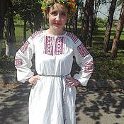Рубашки ручной работы. Ярмарка Мастеров - ручная работа Традиционная женская рубаха с вышивкой. Handmade.