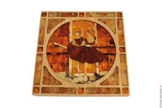 """Люди, ручной работы. Ярмарка Мастеров - ручная работа. Купить Мозаика из натурального янтаря """"Балерина"""". Handmade. Комбинированный, балерина"""