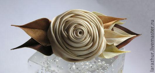 Броши ручной работы. Ярмарка Мастеров - ручная работа. Купить Заколка-роза IRISH CREAM. Handmade. Бежевый, цветочное украшение