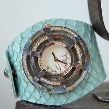 """Украшения ручной работы. Ярмарка Мастеров - ручная работа Часы """"Голубая лагуна"""". Handmade."""