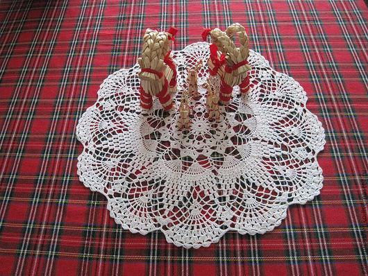 Текстиль, ковры ручной работы. Ярмарка Мастеров - ручная работа. Купить Салфетка № 47. Handmade. Белый, салфетка крючком