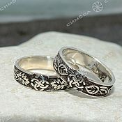 Русский стиль handmade. Livemaster - original item Wedding rings IN LEAVES. Handmade.