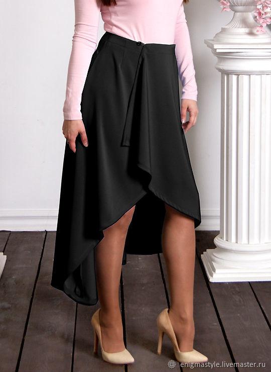 c094cc6d129 Черная Пантера - асимметричная юбка полусолнце с разрезом спереди ...