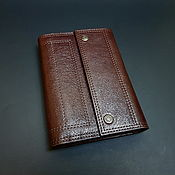 Сумки и аксессуары handmade. Livemaster - original item Wallet men`s clutch dark brown genuine leather. Handmade.