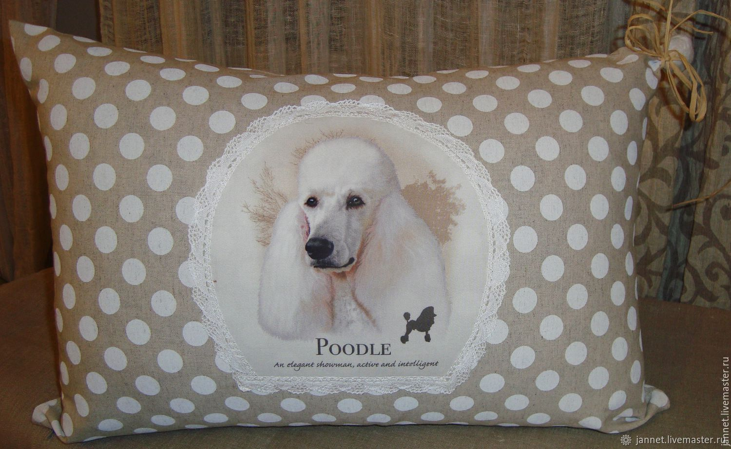CUTE FRIEND-pillow/pillow case with dogs, Pillow, Moscow,  Фото №1