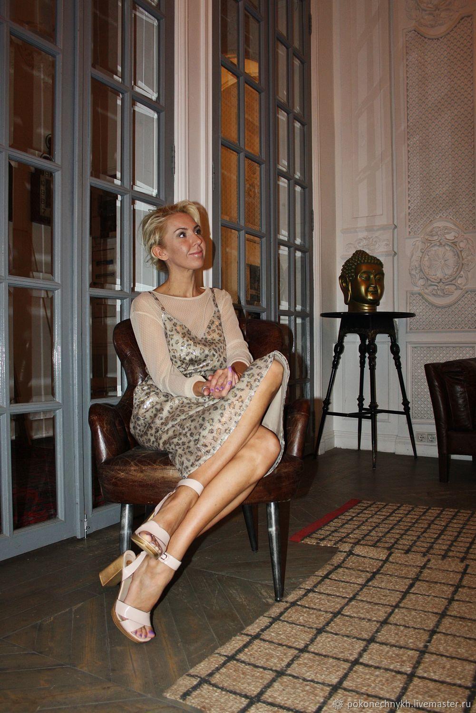 Двухслойное платье из леопардовых пайеток, Платья, Москва,  Фото №1