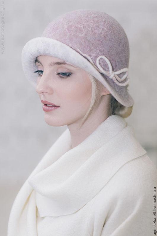 """Шляпы ручной работы. Ярмарка Мастеров - ручная работа. Купить Шляпка """"Розовый жемчуг"""". Handmade. Бледно-розовый, нежный цвет"""