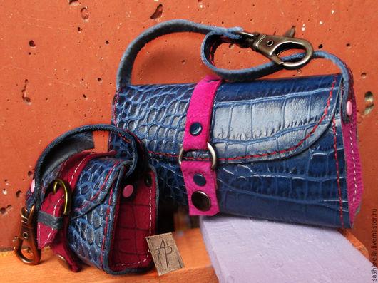 Миниатюрная сумочка с секретиком из натуральной кожи - идеальный подарок Вашим любимым на Новый Год и Рождество!  Так же можно использовать как декоративную подвеску на сумку и для одежды