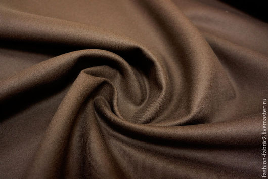 Шитье ручной работы. Ярмарка Мастеров - ручная работа. Купить Двухслойная костюмная шерсть темный шоколад 8111622 PRT. Handmade.