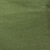Материалы для творчества ручной работы. Ярмарка Мастеров - ручная работа Ткань полульняная. Болотный цвет.. Handmade.