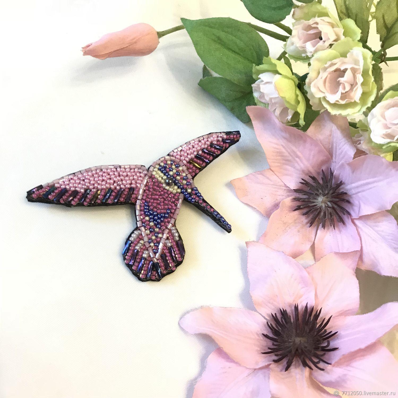 красивая брошь колибри модное украшение брошка подарок подруге маме сестре коллеге  колибри розовая сиреневая купить брошь колибри необычная колибри