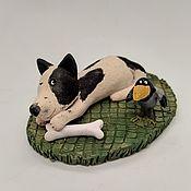 Куклы и игрушки handmade. Livemaster - original item A dinner give to the enemy! Figurines of dogs. Ceramics. Handmade.