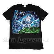 Одежда handmade. Livemaster - original item T-shirt  hand painted stars. Handmade.