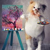 Куклы и игрушки handmade. Livemaster - original item the artist knitted the cat. Handmade.