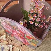 """Для дома и интерьера ручной работы. Ярмарка Мастеров - ручная работа """"Шиповник розовый цветет"""" - сухарница. Handmade."""