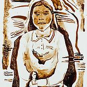 Для дома и интерьера ручной работы. Ярмарка Мастеров - ручная работа графика нефтью. Handmade.