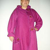 """Одежда ручной работы. Ярмарка Мастеров - ручная работа Пальто-трансформер """"Кокон"""" (сиреневое). Handmade."""