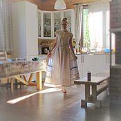 "Одежда handmade. Livemaster - original item Linen exclusive dress "" Christmas"". Handmade."