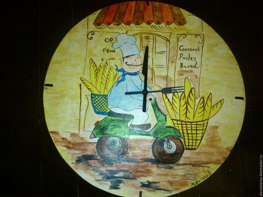 Часы для дома ручной работы. Ярмарка Мастеров - ручная работа. Купить Настенные кухонные часы. Handmade. Часы ручной работы