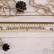 Канцелярские товары handmade. Livemaster - original item A wooden ruler with the English language. Handmade.