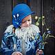Шляпы ручной работы. Ярмарка Мастеров - ручная работа. Купить Шляпка Клош Синяя-синяя из шерсти Ш_15005. Handmade. Синий