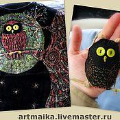 Одежда ручной работы. Ярмарка Мастеров - ручная работа Футболка Совушка. Handmade.