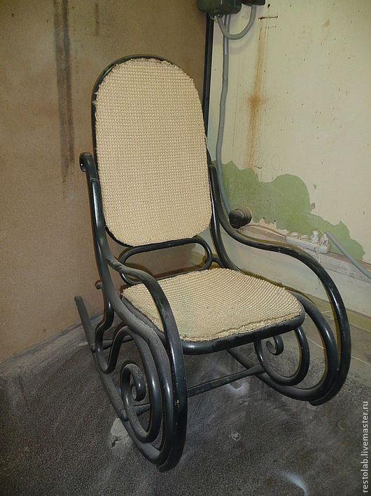 Реставрация. Ярмарка Мастеров - ручная работа. Купить Реставрация кресла-качалки Тонет.. Handmade. Черный, тонет, лак