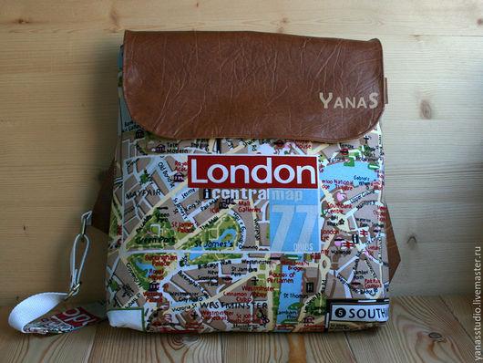 """Рюкзаки ручной работы. Ярмарка Мастеров - ручная работа. Купить Рюкзак """"Лондон"""". Handmade. Комбинированный, рюкзак ручной работы"""