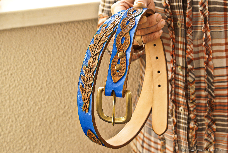 Belt female leather handmade, Straps, Krasnodar,  Фото №1