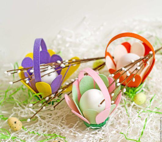 Подарки на Пасху ручной работы. Ярмарка Мастеров - ручная работа. Купить Подставка для пасхальных яиц. Корзиночка.. Handmade. Подставка для яиц