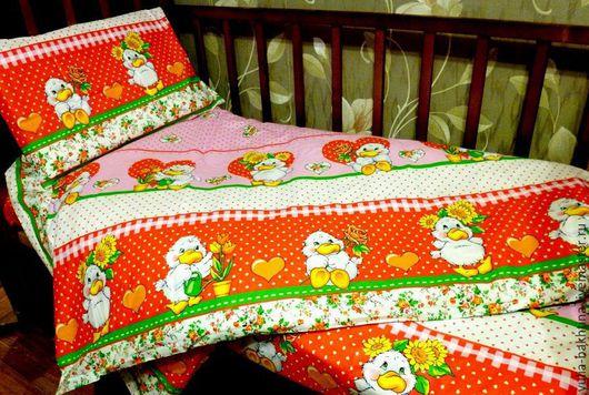 Детская ручной работы. Ярмарка Мастеров - ручная работа. Купить Ткань для постельного белья. Handmade. Разноцветный, детская комната, постельное
