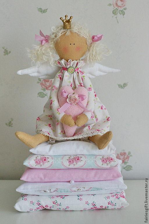 Куклы Тильды ручной работы. Ярмарка Мастеров - ручная работа. Купить Тильда Принцесса на горошине. Handmade. Бледно-розовый