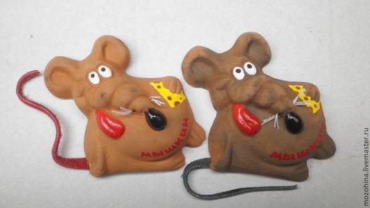 Магниты ручной работы. Ярмарка Мастеров - ручная работа. Купить Крысы магниты. Handmade. Крыса, магнит, усы, язык, весело