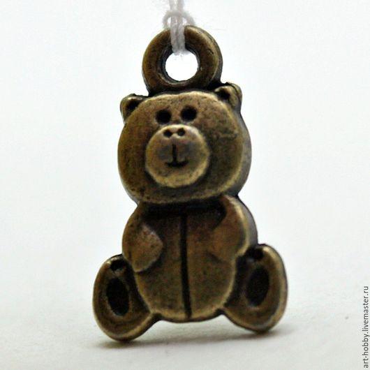Для украшений ручной работы. Ярмарка Мастеров - ручная работа. Купить Подвеска-медведь. Handmade. Подвеска, металл