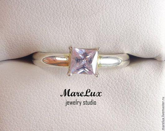 """Кольца ручной работы. Ярмарка Мастеров - ручная работа. Купить Кольцо """"Лавандовая Принцесса"""" в серебре MareLux. Handmade. Розовый, серебро"""