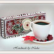 """Подарки к праздникам ручной работы. Ярмарка Мастеров - ручная работа Шкатулка """"Морозное утро"""". Handmade."""