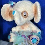 """Куклы и игрушки ручной работы. Ярмарка Мастеров - ручная работа % Валяная слоняша """"Милочка"""". Handmade."""