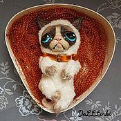 Куклы и игрушки ручной работы. Ярмарка Мастеров - ручная работа Грустный кот Томас.. Handmade.