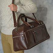 Сумки и аксессуары handmade. Livemaster - original item Men`s leather travel bag