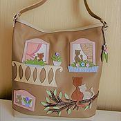 handmade. Livemaster - original item Bag leather