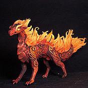 Подарки к праздникам ручной работы. Ярмарка Мастеров - ручная работа Огненный элементный дракон фигурка игрушка дракончик. Handmade.