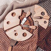 Менажницы ручной работы. Ярмарка Мастеров - ручная работа Сырная доска из 3 частей. Handmade.